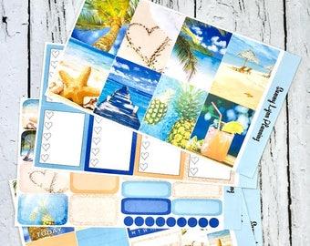 Paradise Weekly Kit/A La Carte - EC Vertical/EC Horizontal/Happy Planner