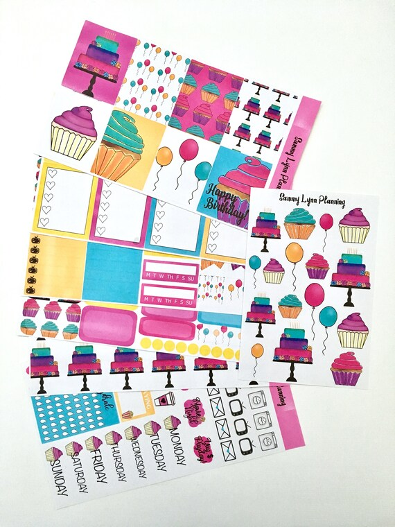 Happy Birthday! Weekly Kit - EC Vertical/EC Horizontal/Happy Planner