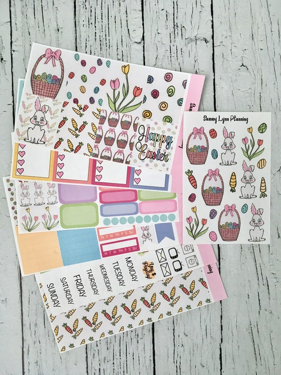 Easter Weekly Kit/A La Carte - EC Vertical/EC Horizontal/Happy Planner