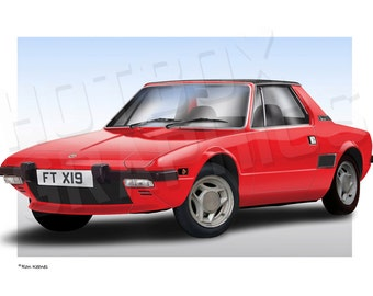 Personalised Illustration of Your Fiat X1/9