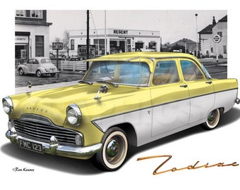 Personalised Illustration of Your Ford Mk2 Consul Zephyr Zodiac
