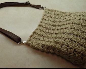 Crochet sidesaddle stitch handbag purse Pattern DIGITAL DOWNLOAD ONLY