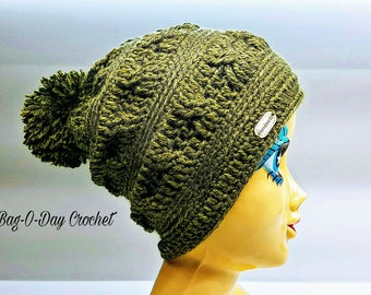 How to Crochet The Joshua Tree Slouchy Beanie Hat Pattern DIGITAL DOWNLOAD ONLY