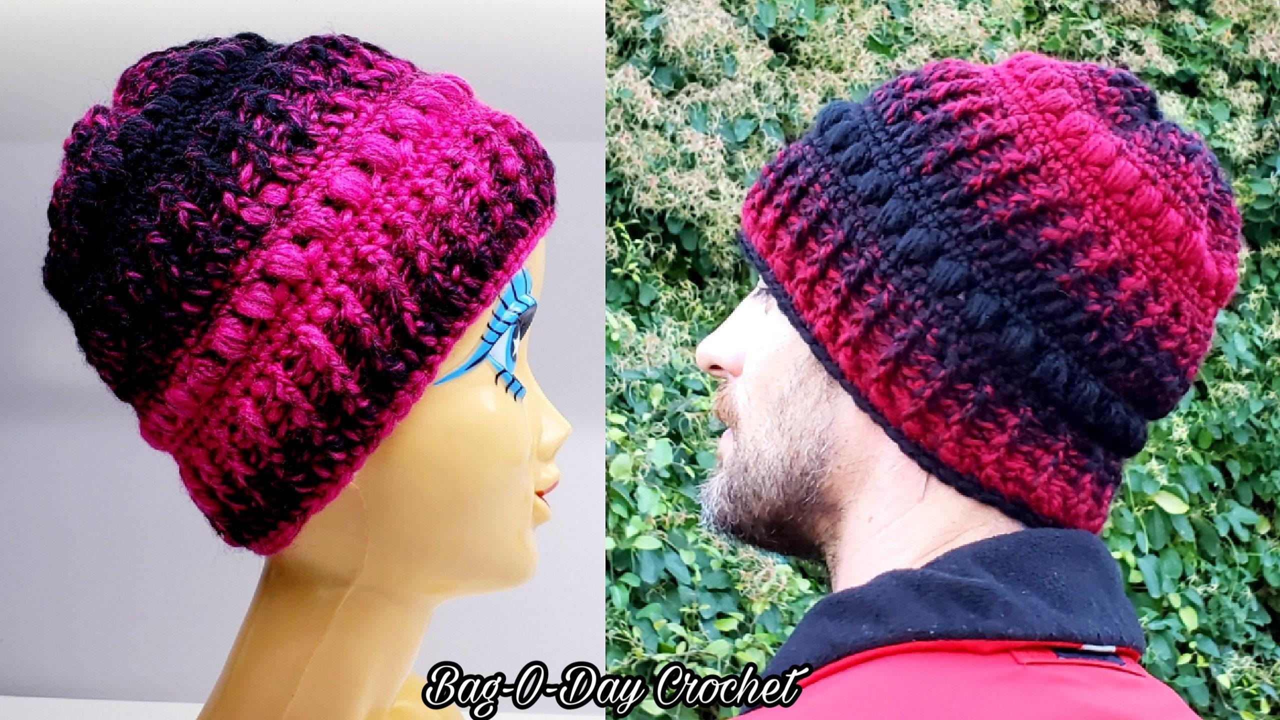 Crochet Mens And Womens Beanie Hat Crochet Pattern Etsy