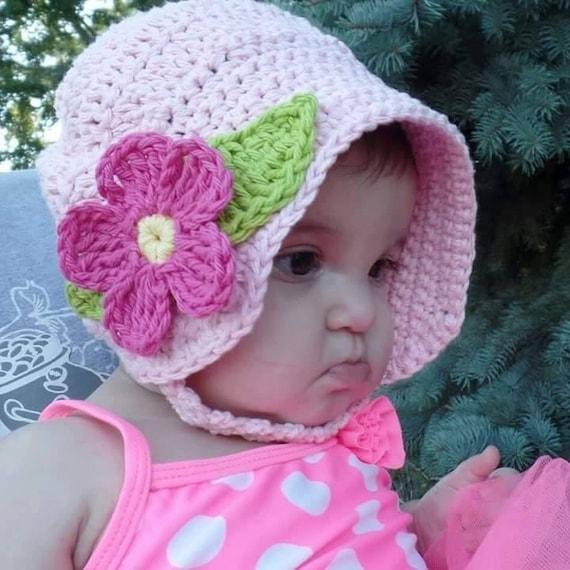 Crochet Baby Summer Fun Sun Hat Bonnet Pattern DIGITAL  2f2831e3eb3
