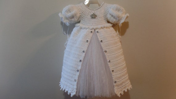 Crochet Christening Gown Princess Dress Pattern DIGITAL Etsy Awesome Crochet Christening Gown Pattern