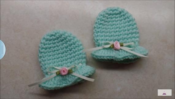 Crochet Newborn Baby Scratch Mittens Pattern Digital Download Etsy