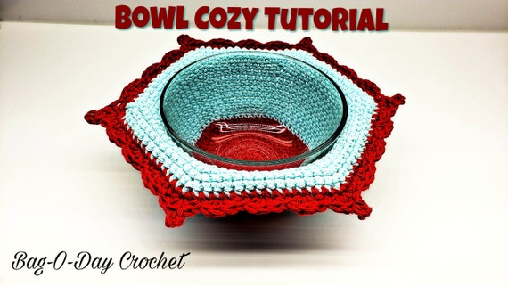 Crochet Soup Bowl Cozy Hot Pad Crochet Pattern DIGITAL