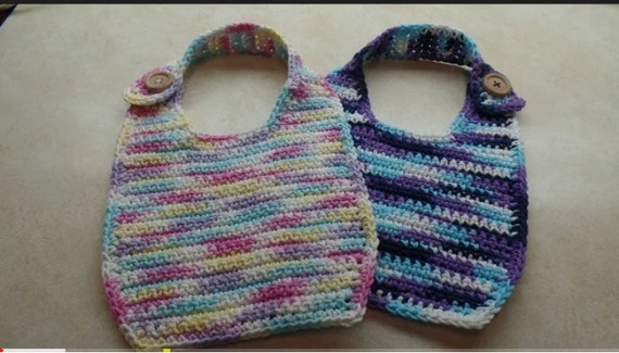 Easy Crochet Cotton Baby Bib Pattern Digital Download Only Etsy