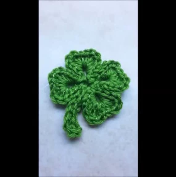 Crochet Shamrock Pattern Four Leaf Clover St Patricks Day Etsy
