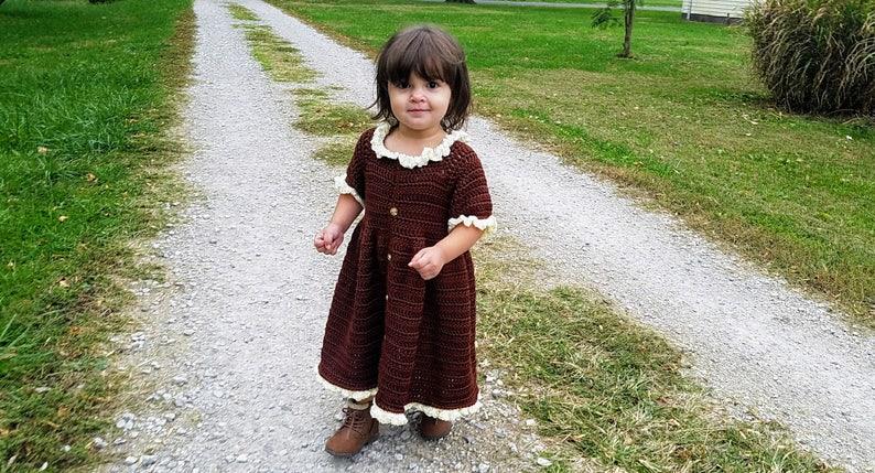 Crochet Little Pilgrim Crochet Toddler Dress Baby dress image 0