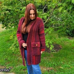 Crochet Cardigan Adult Crochet XS-S-M 3XL-4XL-5XL L-XL-2XL Easy pattern, Easy crochet Crochet Cardigan .