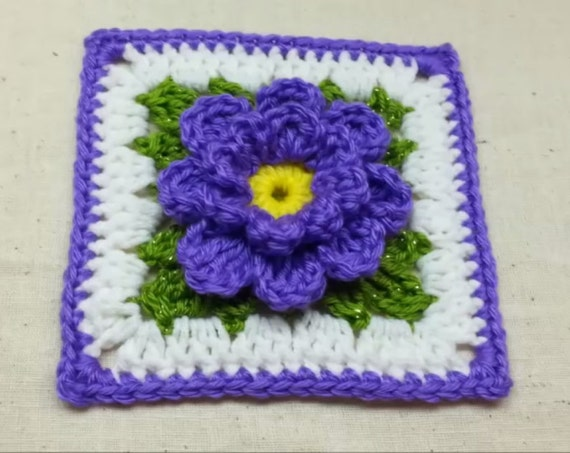 Crochet Flower Granny Square Pattern Digital Download Only Etsy