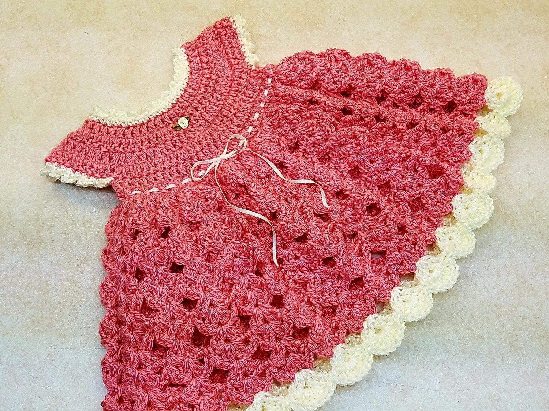 Crochet Strawberry Shortcake Baby Girl Dress 0-6M Pattern   Etsy