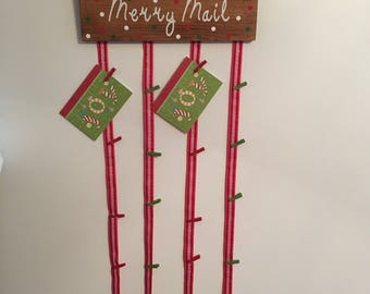 merry mail christmas card holder merry mail sign christmas card holder christmas card holder christmas card hanger christmas card sign