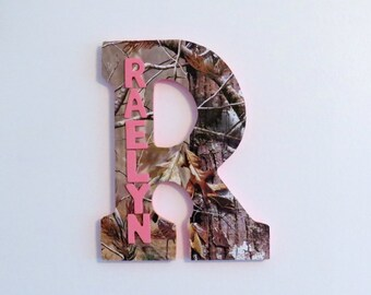 Girls Camo Custom Wall Letter, Camo Letter, Girls Room decoration, Name Art, Wall Letters, Hanging Letters, Nursery Letter, Wooden Letters