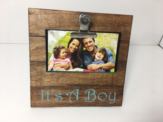 Its A Boy Clip Picture Frame Its A Boy Its A Boy Etsy