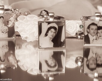Bouquet Memorial Photo Charm