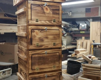 Warre Bee hive w/ Windows (Torched Finish) Newly constructed, great looking organic hive.