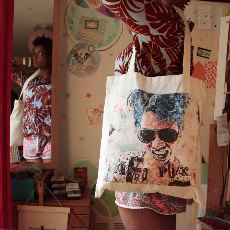 Tote Bag Afro Punk Rock Girl