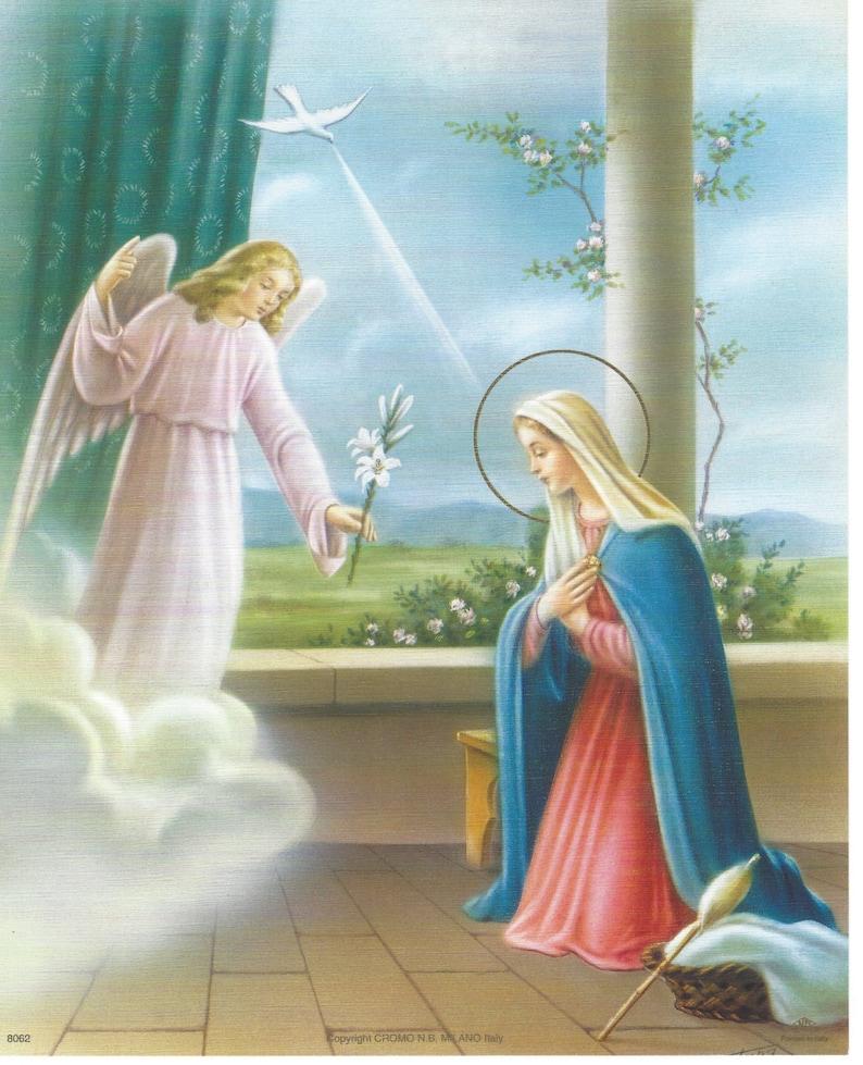 La Anunciacion Bendita Virgen Maria Y El Arcangel Gabriel Arte Impresion Foto 8 X 10 Listo Para Marco