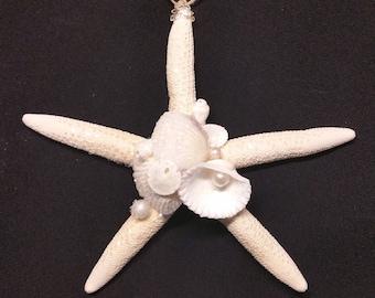 Starfish Shell Pearl Christmas Tree Ornament