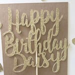 Happy Birthday Personalized  Name Cake Topper, Custom Cake Topper, Name cake, Glitter Name Toppers, Personalized Cake, Happy Birthday Cake