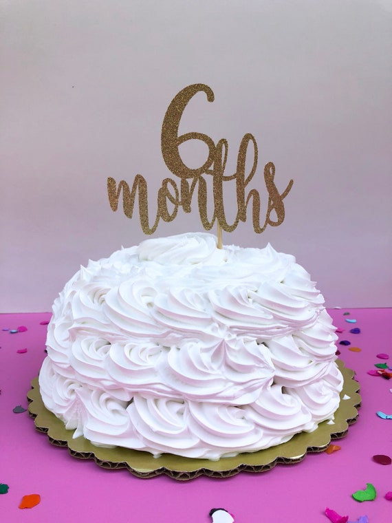 6 Months Cake Topper