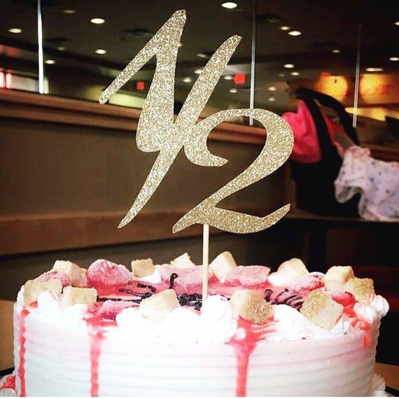 Glitter 12 Birthday Cake Topper Smash Cake Pick 6 Month Etsy