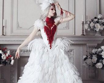 Gothic wedding dress | Etsy