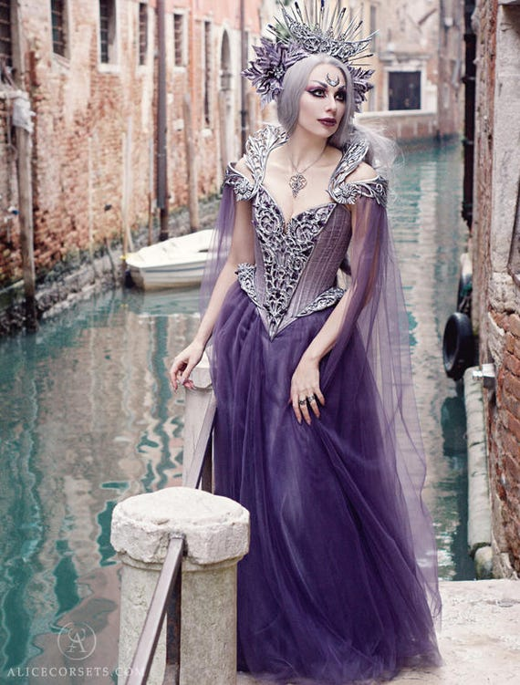 Couture Fantasy Gothic Wedding Gown Haute Goth Dress Etsy