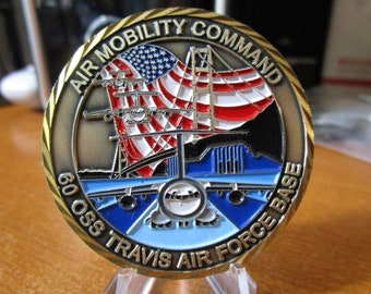 60th Operational Support Squadron 60 OSS Air Traffic Control AMC USAF Challenge Coin