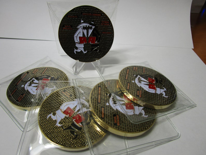 Lot of 5 CIA Information Operations Center IOC Cyber Security Spy vs Spy  Challenge Coins