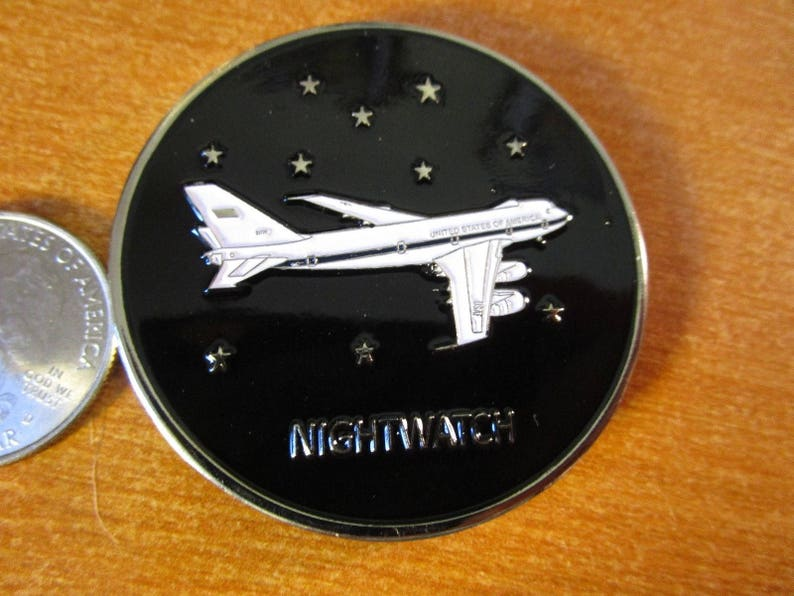 USAF National Airborne Operations Center Nightwatch E-4B STRATCOM Challenge  Coin