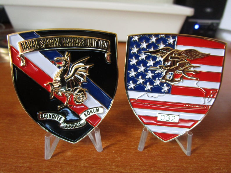 Seal Team Two NSWG - 2 Naval Special Warfare Unit Two Little Creek Navy  Seals SWCC Sequenced # Challenge Coin