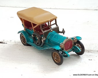 Vtg Lesney 1909 THOMAS FLYABOUT blue car Matchbox yesteryear series lesney flyabout blue model diecast vintage lesney vtg M09/591