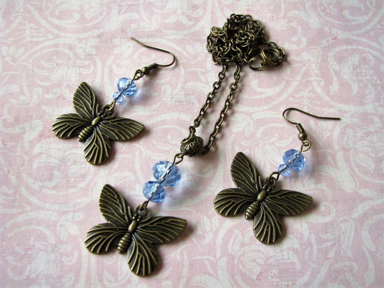Blue Butterfly Jewelry: Butterfly Jewelry Blue Jewelry Butterfly Earrings