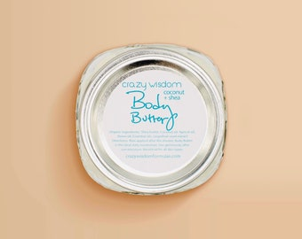 Organic Body Butter / Full body Moisturizer / Radiant skin / Restores and softens / Highest quality ingredients / Value  size