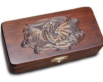 Wooden Box for pipe Smoking Pipe Box for the pipe Gift Box Tobacco Pipe Vintage Box Engraved Box Wooden Gift box
