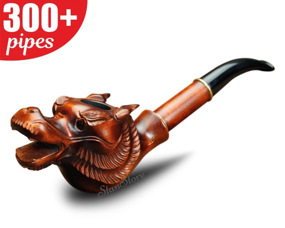Hand Carved ANCHOR Smoking pipe Wooden Pipe Tobacco pipe Birthday Personalized Gift Groomsmen Gift Wedding Gift for Him Custom Engraving