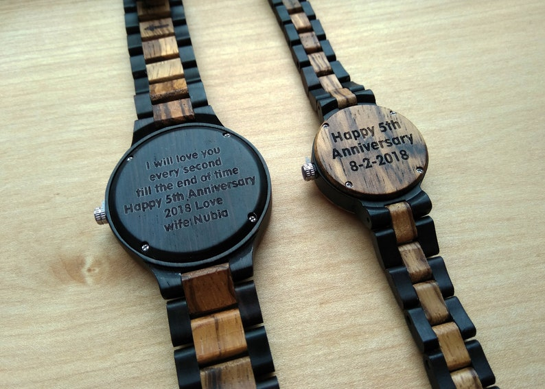 870a8a2b128 Personalized Christmas Gift Watches for Couple Romantic Gift