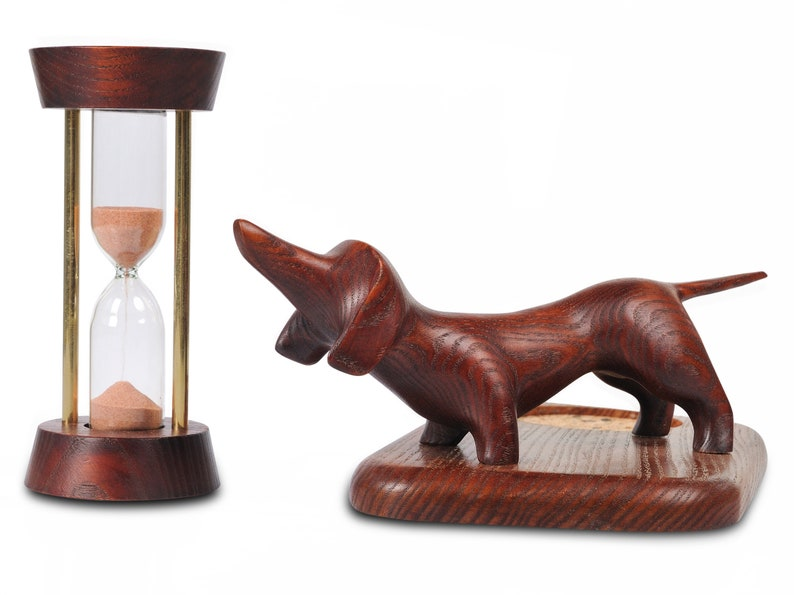 Hourglass 5 minutes Wooden Sandglass Hand carved Hourglass Desk Accessories  gift for son Gift for daughter Back to school Clock Timer