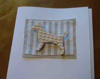 English Bull Terrier Brooch card