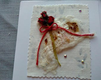 Red Roses card with Swarvoski Crystals