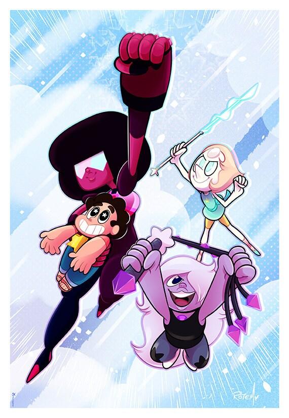 Steven Universe Print Poster Yorogato Etsy