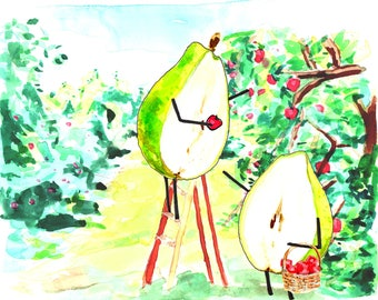 Silly Card, You two make a great pear! - Funny Card, Different Card