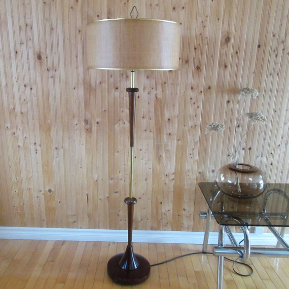 Mid Century Modern Teak Wood Floor Lamp Danish Danemark Sweden American Modernist Era