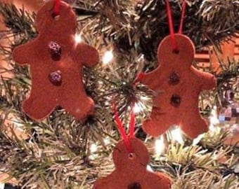 PRiMiTiVE// COLONIAL  5pc Gingerbread Man Blackened BeesWax Ornies CHRISTMAS