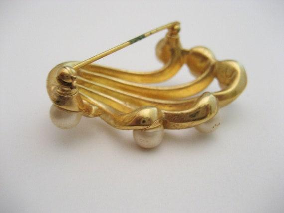 Vintage Pearl Brooch Vintage Faux Pearl Brooch Pe… - image 3