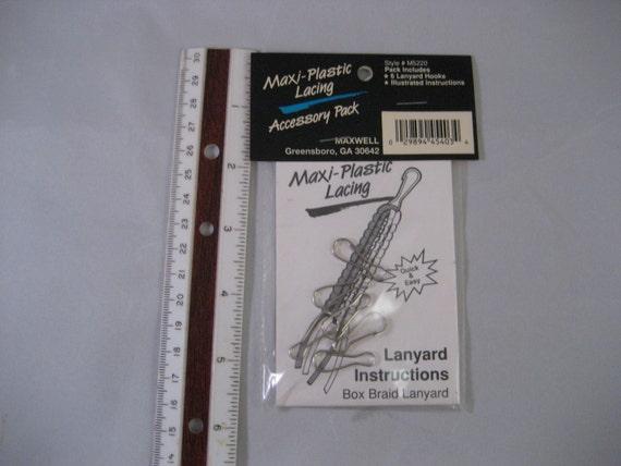 Plastic Lacing Kit Lanyard Hooks Box Braid Instructions Box Etsy